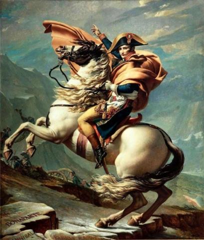 Napoleone che attraversa le Alpi versione Malmaison analisi