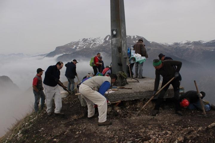 lavori in Punta Almana