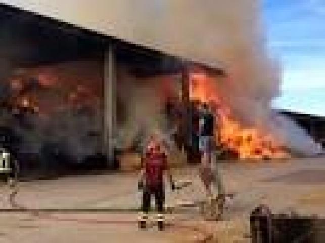 stalla incendiata
