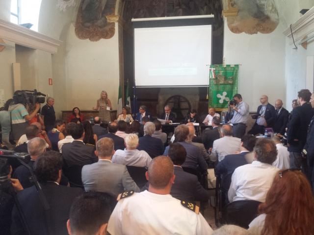 Conferenza stampa Maroni