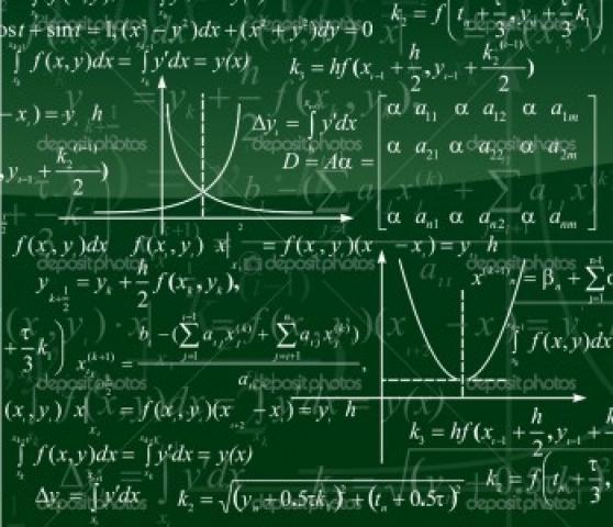 Lavagna con formule matematiche