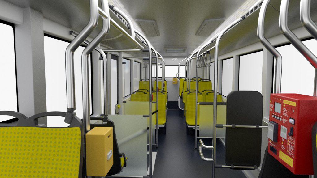 Interni autobus elettrico Solaris Linea C 1