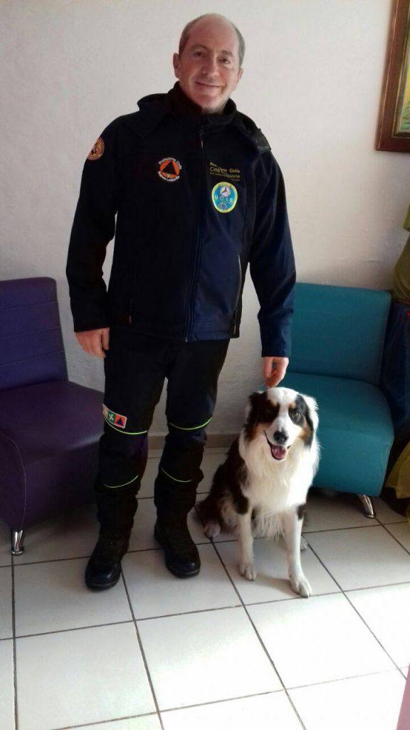 Mirco Gallina e il cane Zorro