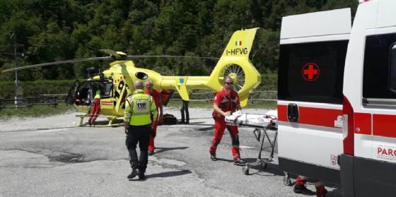 elicottero 118 strada