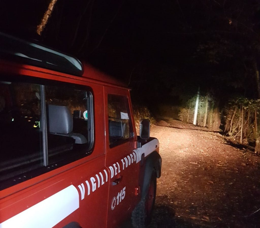 incidente vigili del fuoco clusone selvino