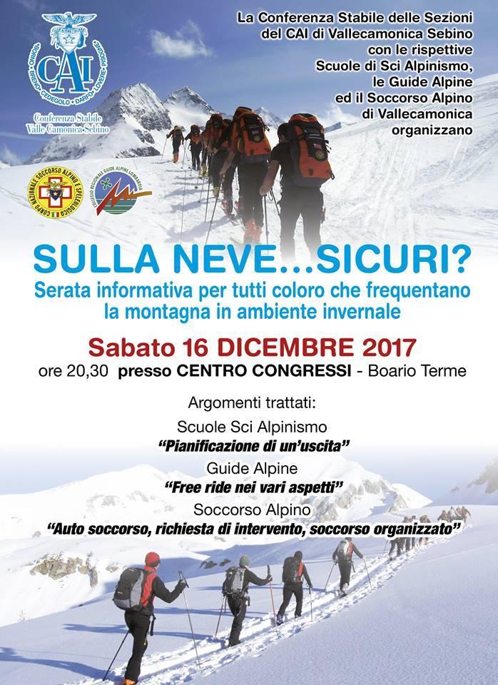 sicuri sulla neve soccorso alpino