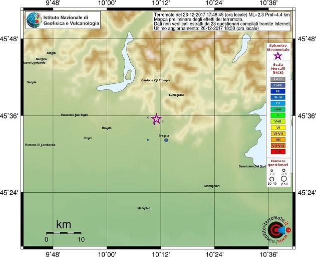 terremoto brescia 26 dicembre