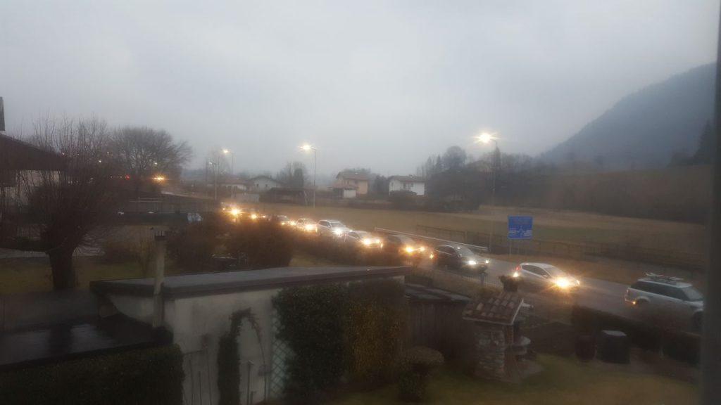 traffico valle seriana