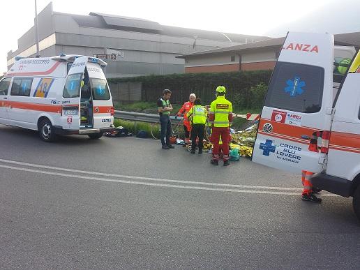 Incidente ciclista Piancamuno
