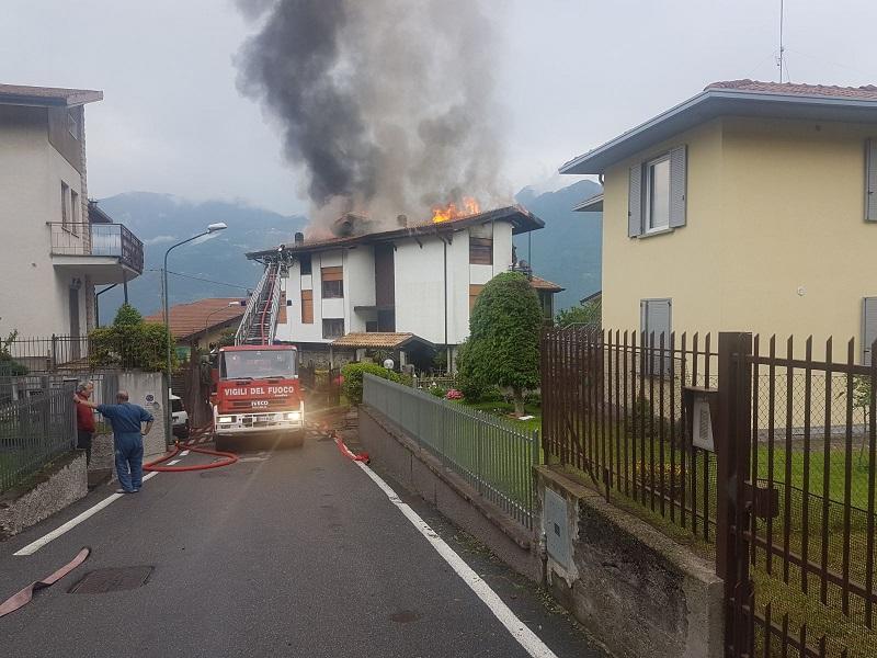 incendio casa lovere