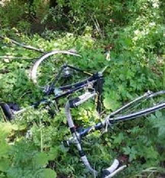 ciclista bosco morto