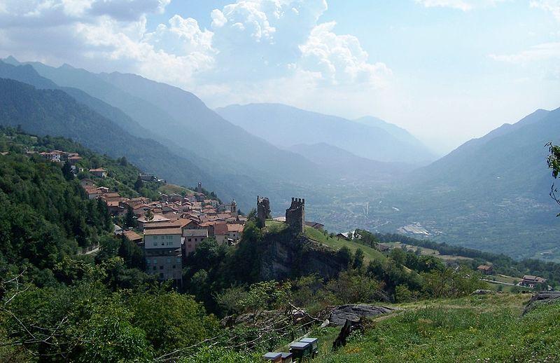 Panorama castello di Cimbergo e Valle Camonica Paspardo Foto Luca Giarelli