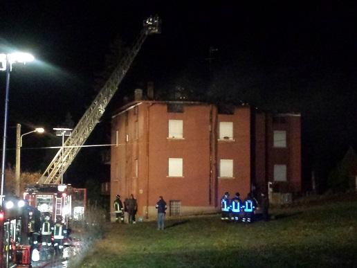 Incendio casa Montecchio