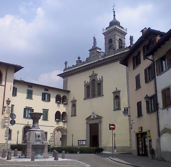 casnigo piazza e chiesa parrocchiale