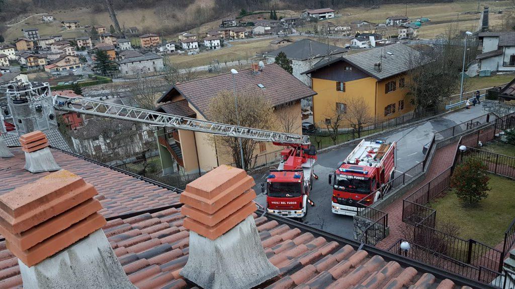 Incendio Clusone tetto