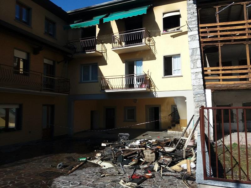 incendio abitazione Rovetta