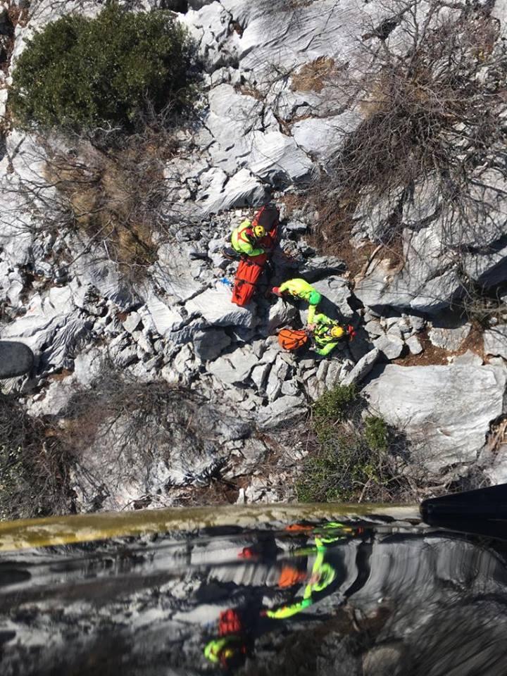 intervento roccia soccorso alpino