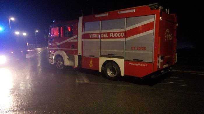 vigili del fuoco intervento