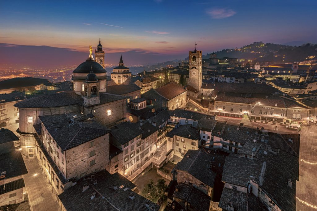 Panorama dalla Torre del Gombito. Foto Daniele Boffelli