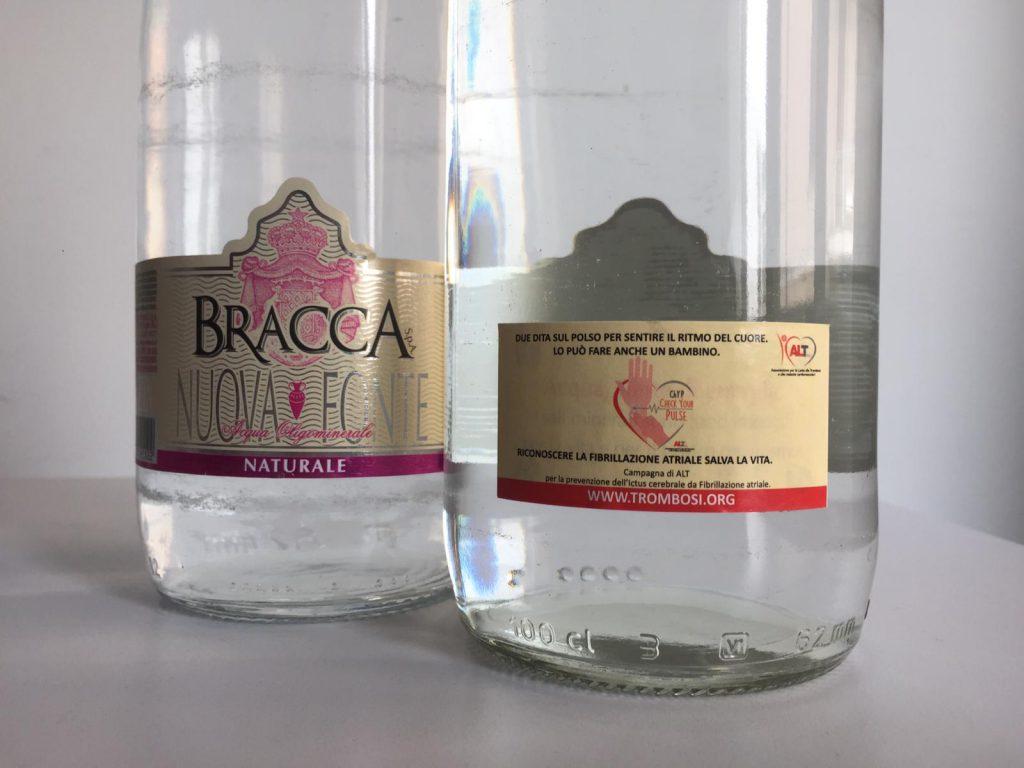 Acque Minerali Bracca retroetichetta