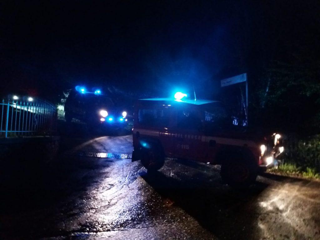 intervento notte vigili fuoco