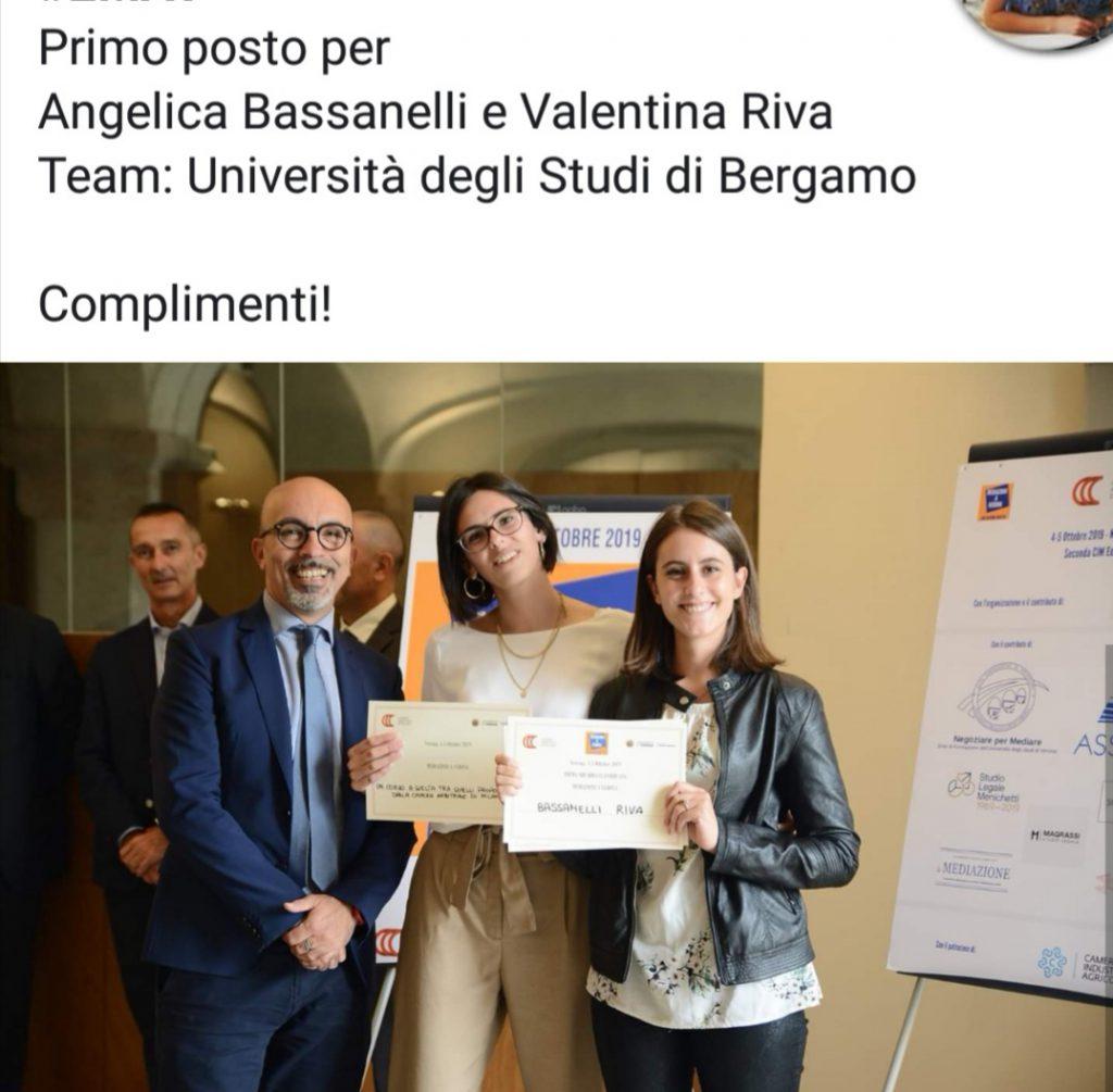 Premio mediazione 2019 unibg