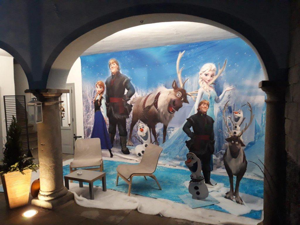 frozen set cinematografico