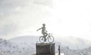 Statua Marco Pantani a Montecampione