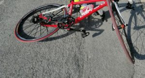 ciclista incidente bici