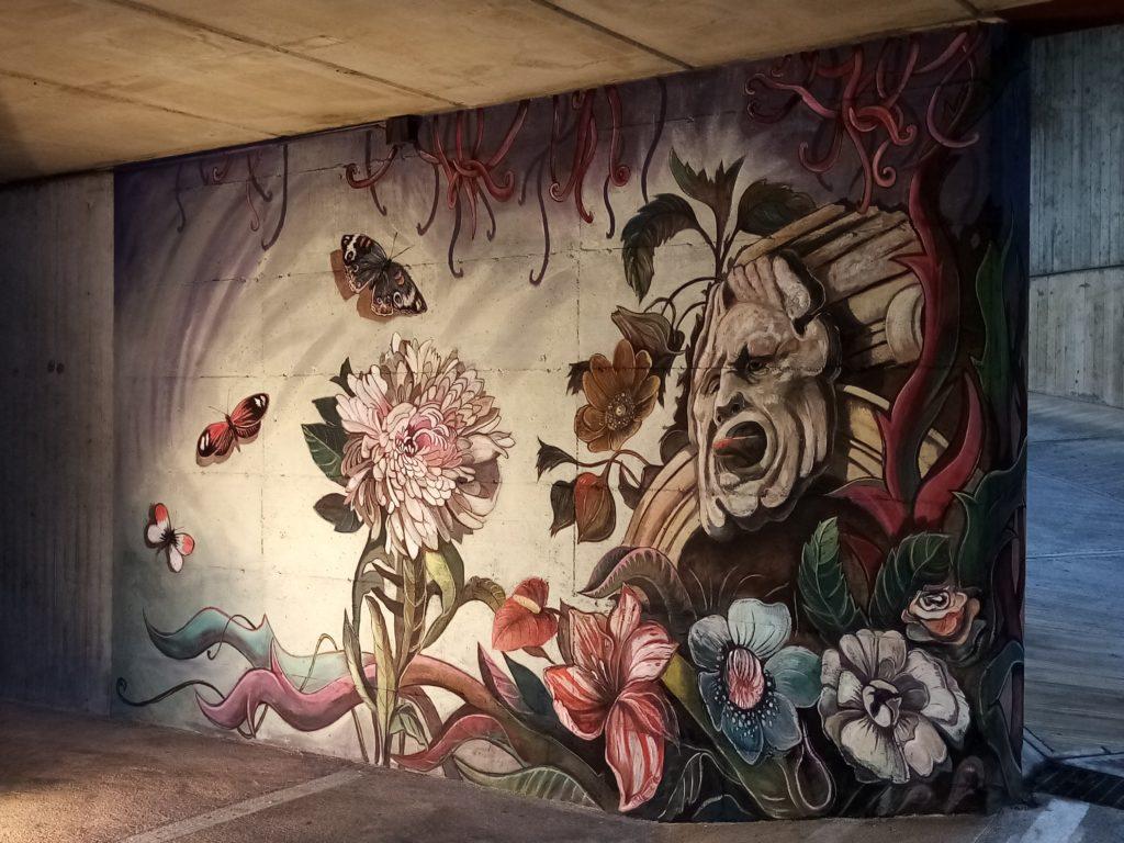 Il murale dipinto nel 2019