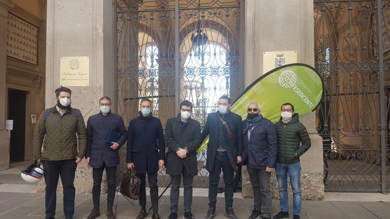 delegazione Confesercenti Bergamo incontra il Prefetto scaled