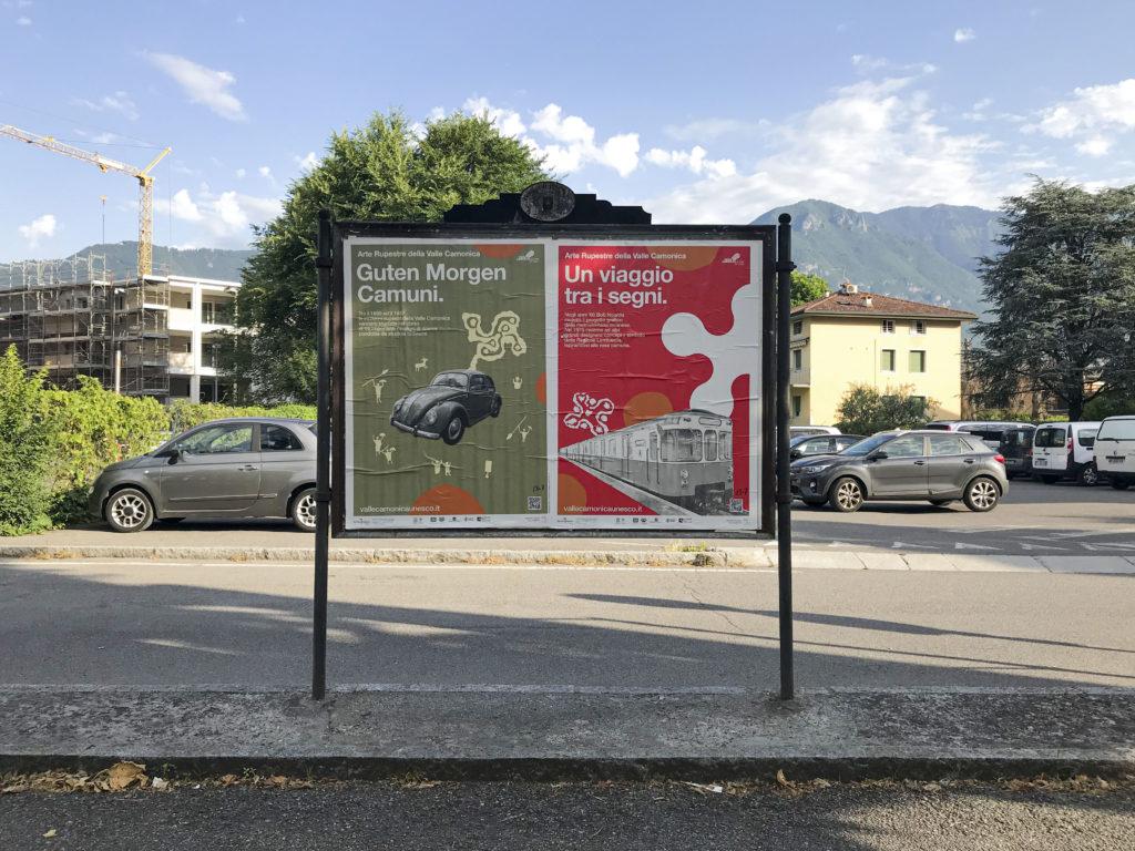 I Manifesti rupestri di Lorenzo Caffi affissi per la strade della Valle Camonica 1